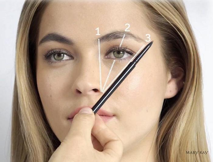 Как нарисовать карандашом квадратные брови