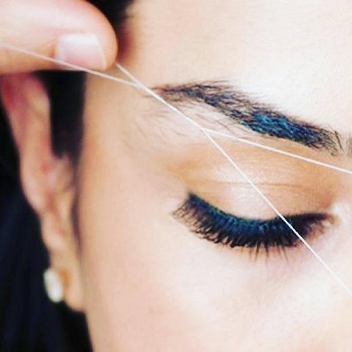 Техника удаления линих волосков нитью - тридинг